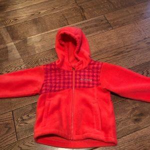 Columbia zip up fleece coat. 24mos